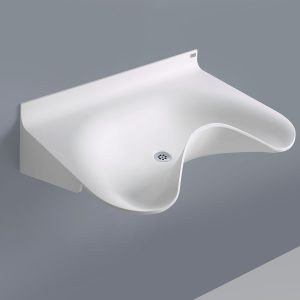 NOAS Surgery Sink OV860GW-00 in DuPont Corian are intended for use in hospitals, private clinics, dentists, veterinarians and laboratories