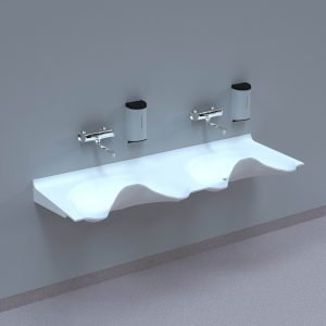NOAS Surgery sink OV1720GW-00 in DuPont Corian are intended for use in hospitals, private clinics, dentists, veterinarians and laboratories.