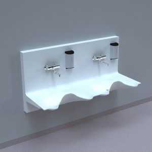 NOAS Surgery sink in DuPont Corian are intended for use in hospitals, private clinics, dentists, veterinarians and laboratories