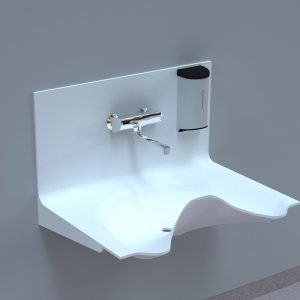 NOAS Surgery Sink OV860GW-02 in DuPont Corian are intended for use in hospitals, private clinics, dentists, veterinarians and laboratories.